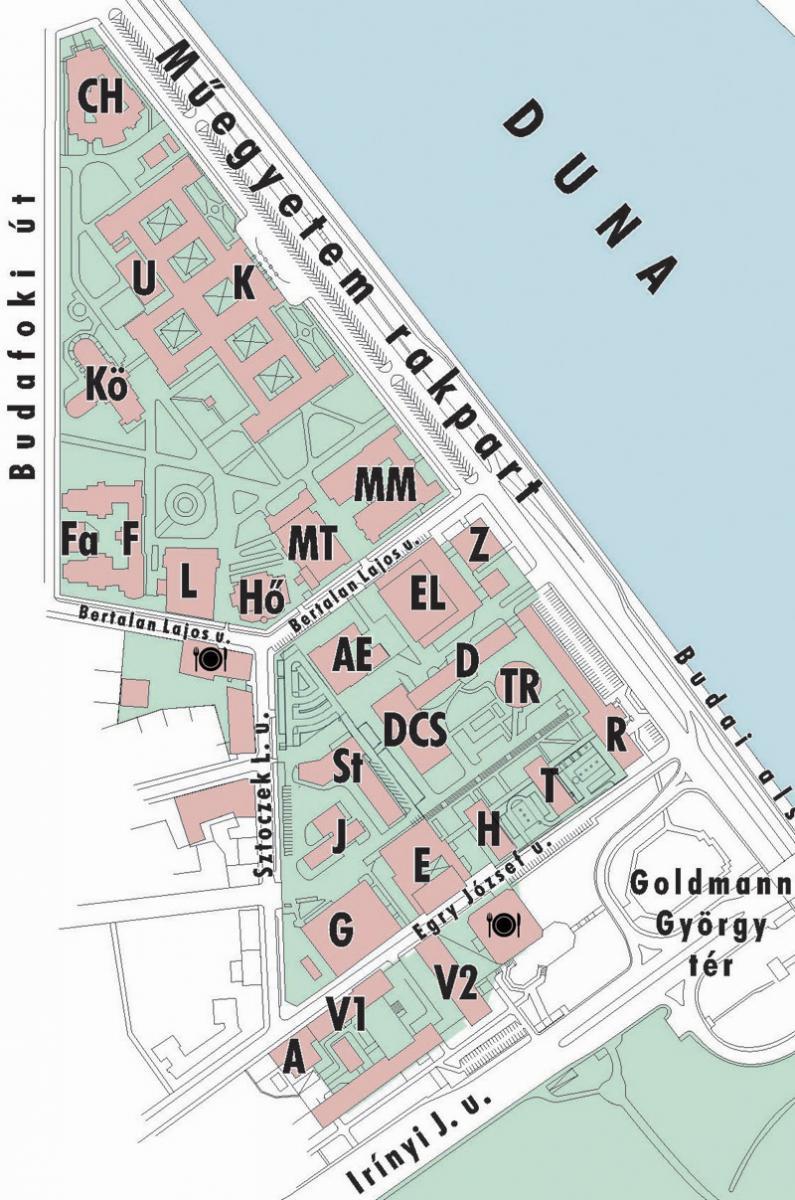 bme budapest térkép Az Egyetem térképe | Budapesti Műszaki és Gazdaságtudományi Egyetem bme budapest térkép